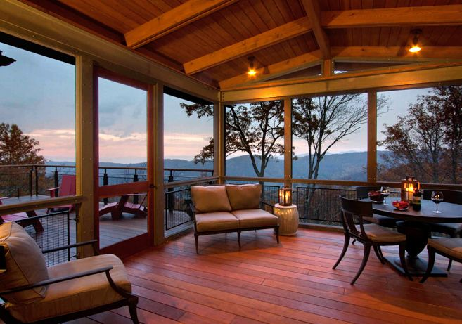 Modern design outdoor living. Built by Morgan Keefe Builders.  Nice casual outdoor room.