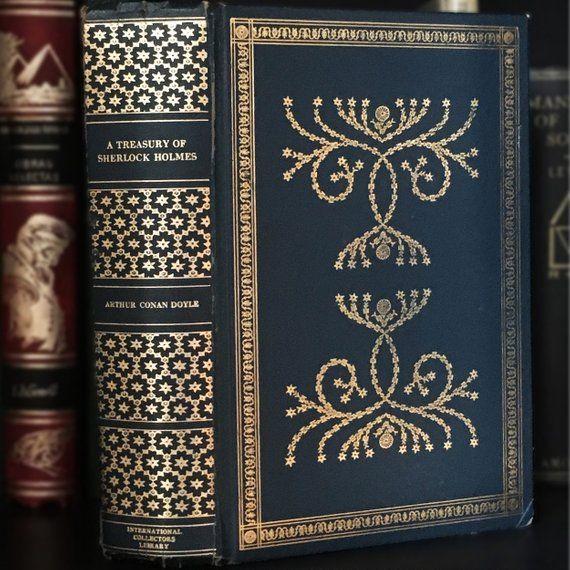 A Treasury of Sherlock Holmes by Sir Arthur Conan Doyle International Collectors Library Vintage Decorative Book Tree of Life Binding