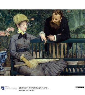 Wintergarden | Edouard Manet | 1878-1879 | Staatlichen Museen zu Berlin | ID #: A 1550