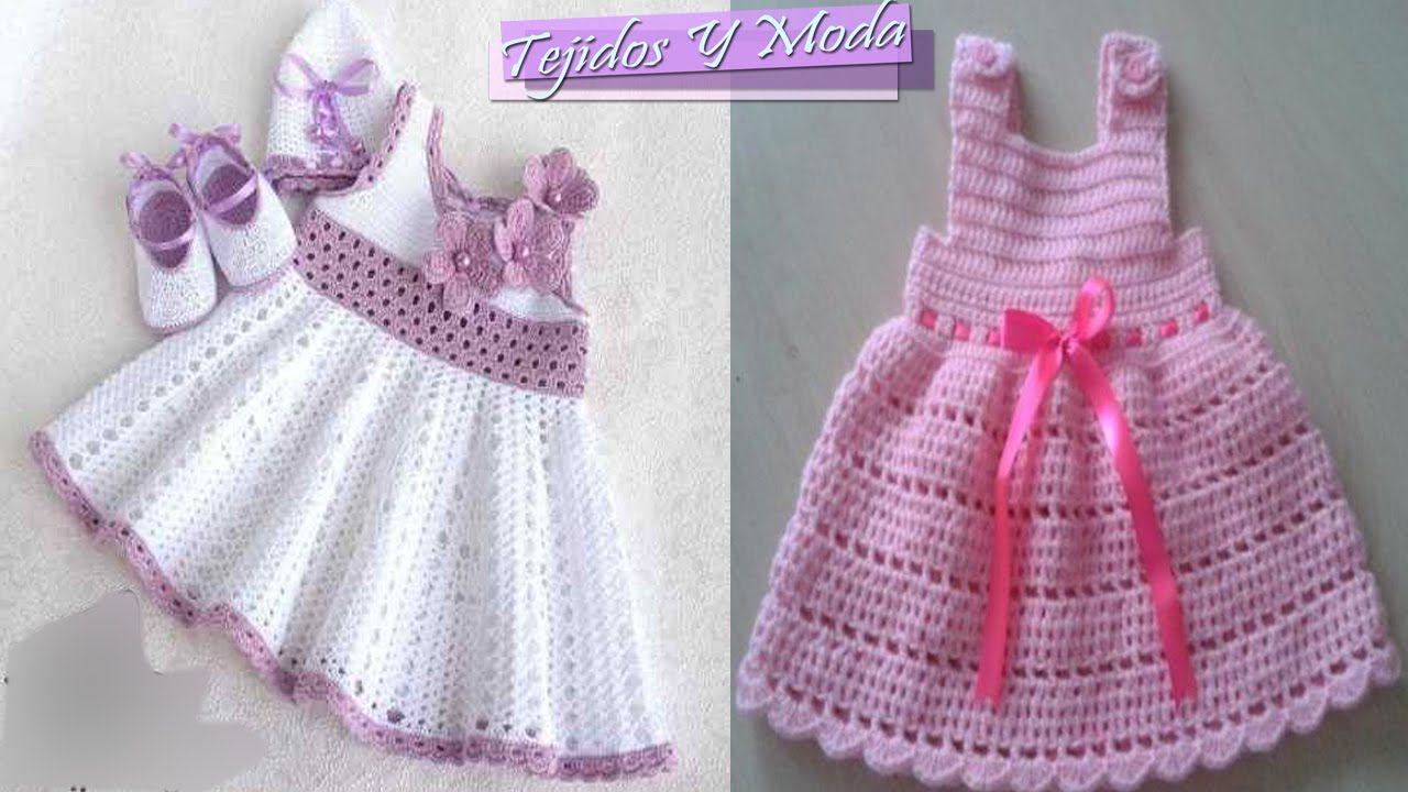 Vestidos Para Bebe Niña Con Patrones - Tejidos a Crochet   Vestir ...