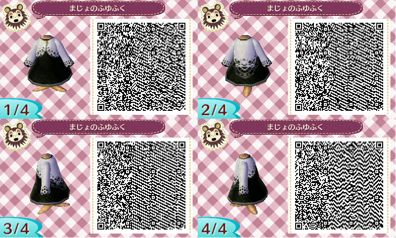 Black dress qr code maker