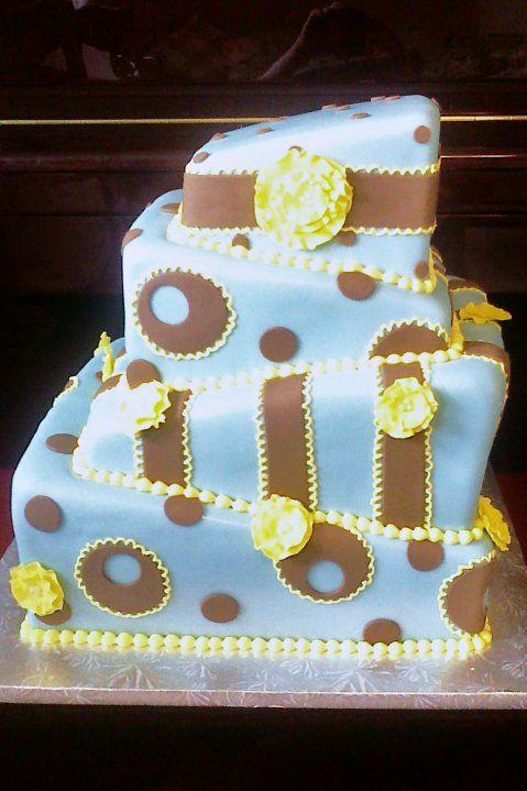topsy turvy square wedding cake my cakes pinterest