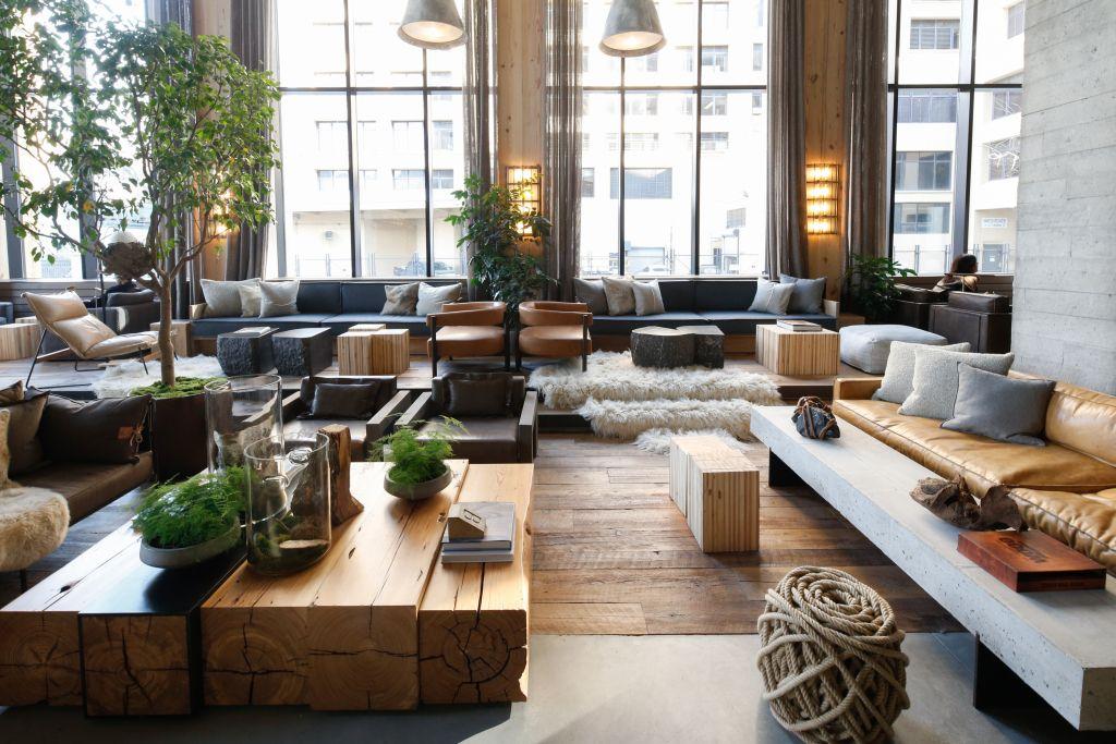 The Lobby Of The 1hotel Brooklyn Bridge Lounge Design Hotel Lobby Design Hotel Interior Design