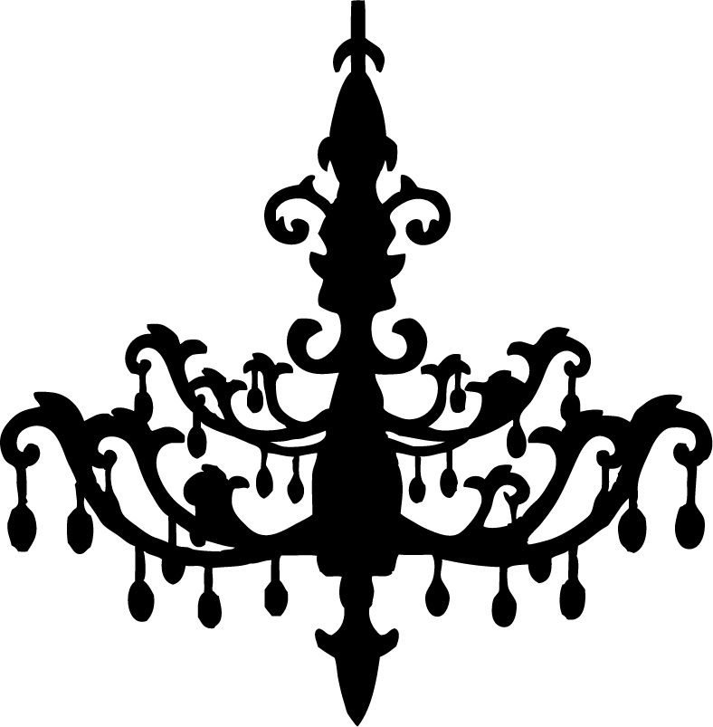 Chandelier Wall Art - Free SVG File Downloads | Silhouette Cameo ...