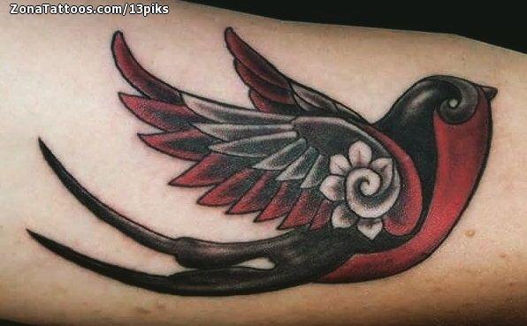 Tatuaje De Golondrinas Aves Animales Tatuajes De Golondrinas