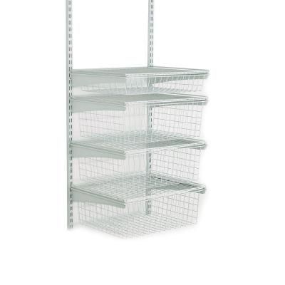 Closetmaid Shelftrack 4 Drawer Kit 2815 At The Home Depot Wire Closet Shelving Closetmaid Closet Kits