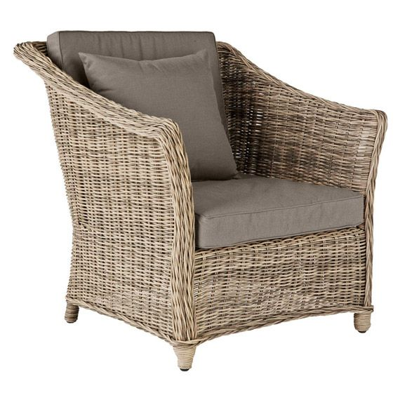 Exceptional New England Outdoor Rattan Armchair