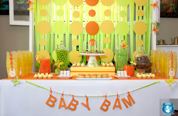 green and orange decor | Parties and Gifts | Pinterest