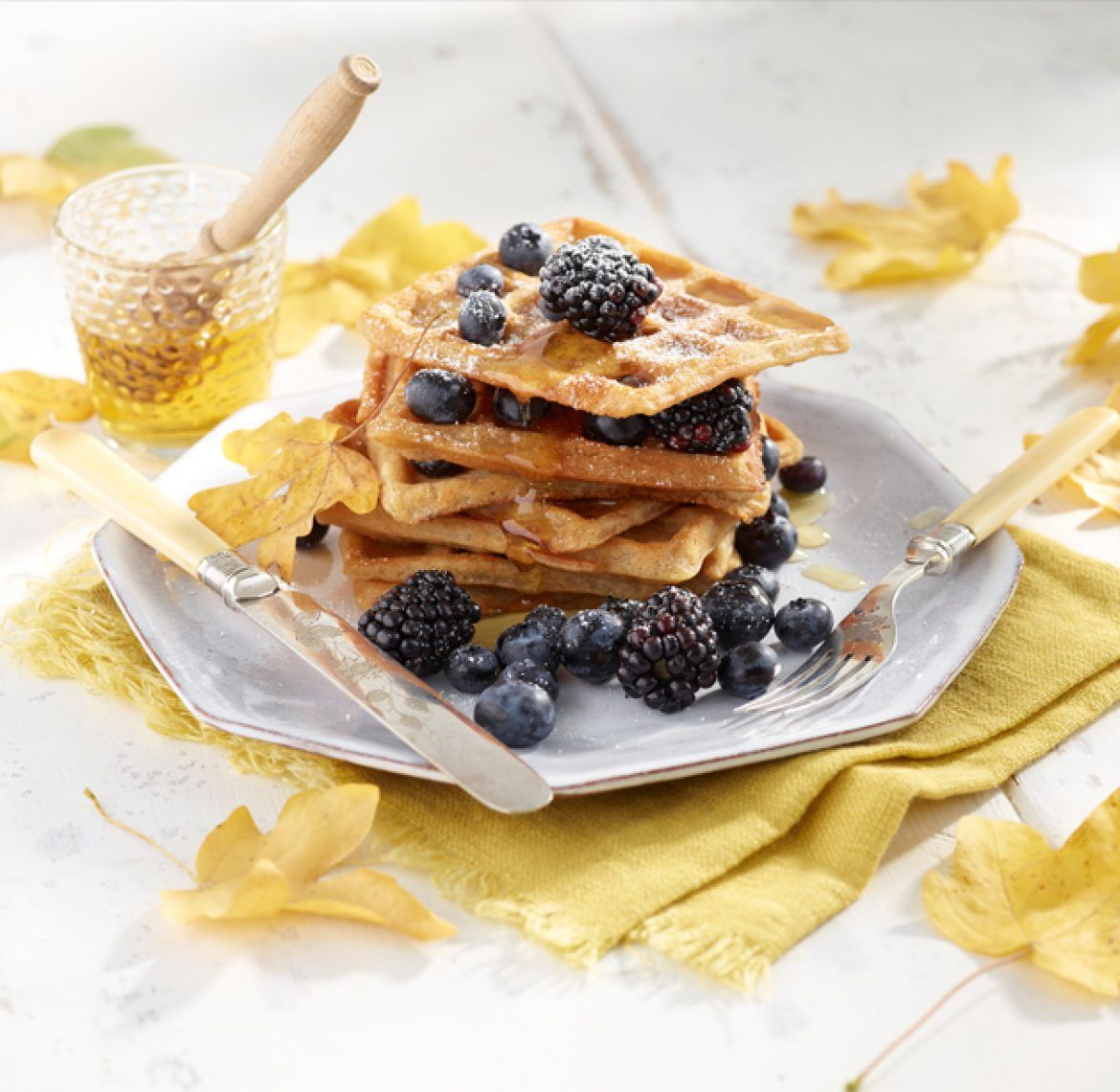 """Viappi's Oat & maple syrup """"witches"""" waffles A sample"""