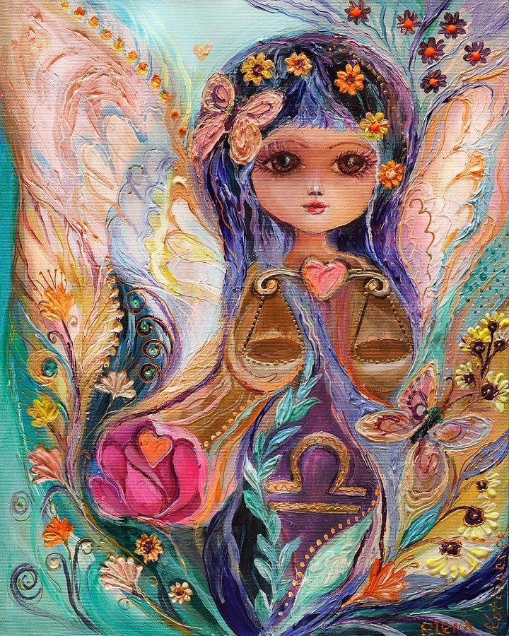 Las hadas de la Serie del zodiaco - Pintura Libra