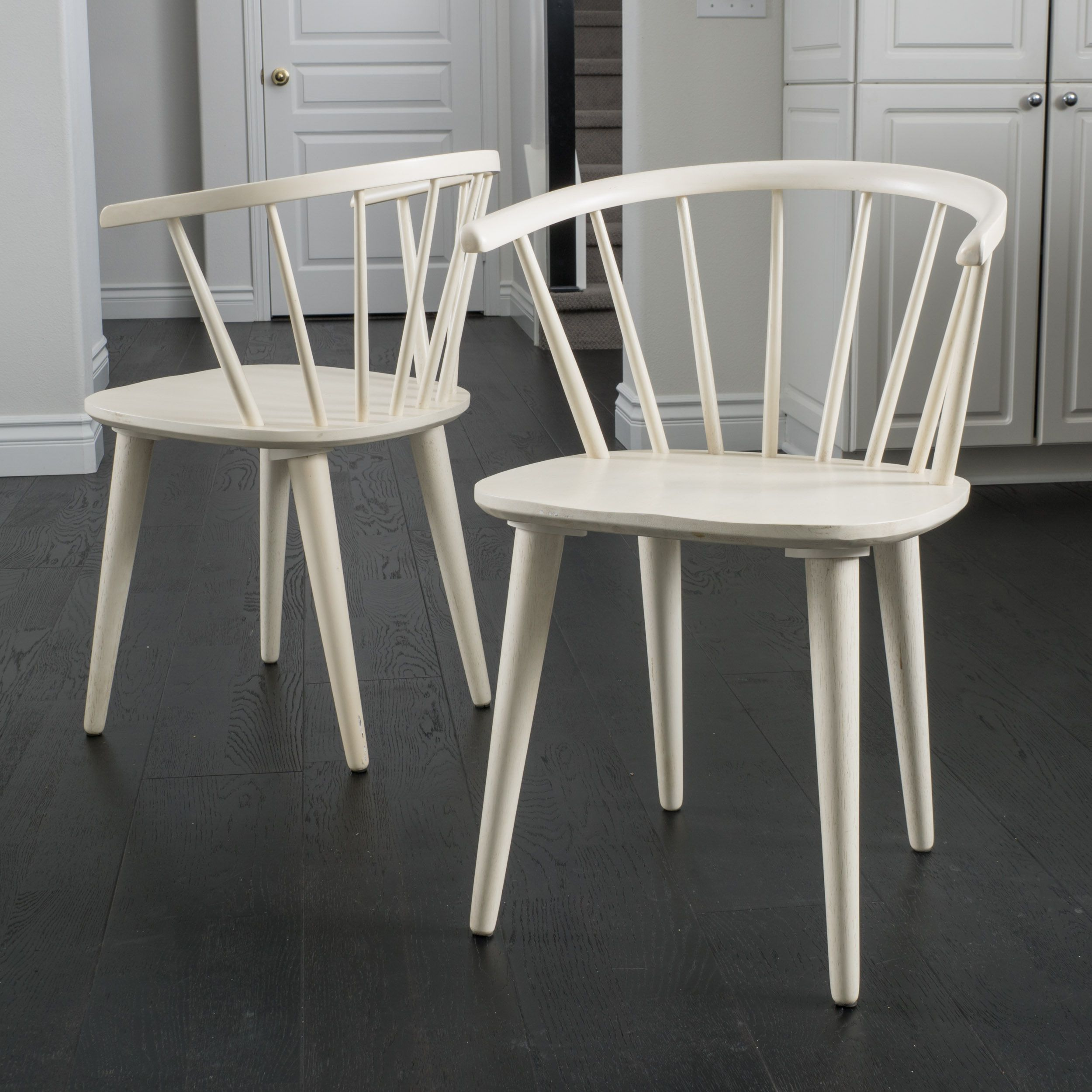Incredible Countryside Rounded Back Spindle Wood Dining Chair Set Of 2 Pdpeps Interior Chair Design Pdpepsorg