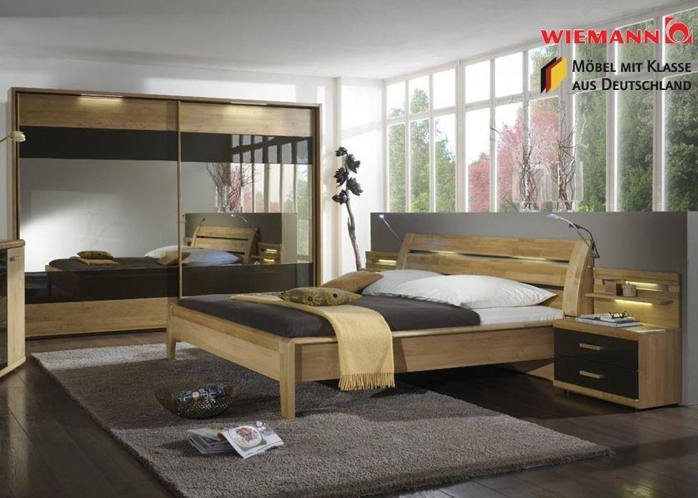 Schlafzimmer komplett Holz Erle Massiv Mocca 3764. Buy now at https ...