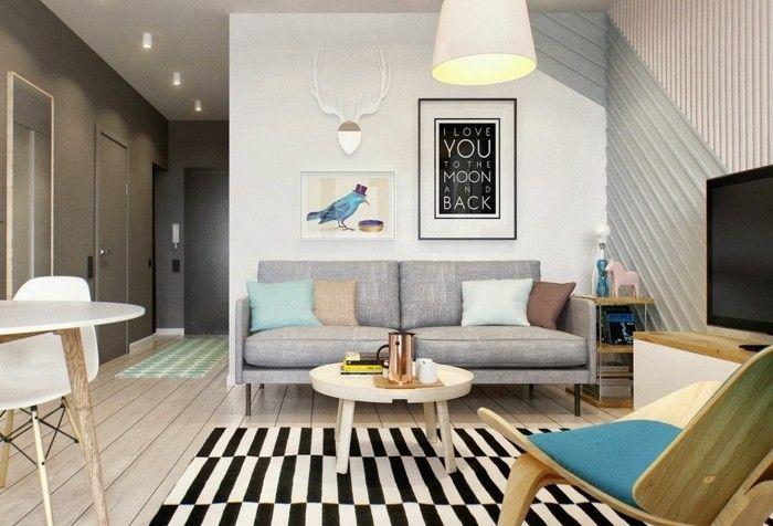 Idea per arredare un soggiorno classico con mobili in legno e ...