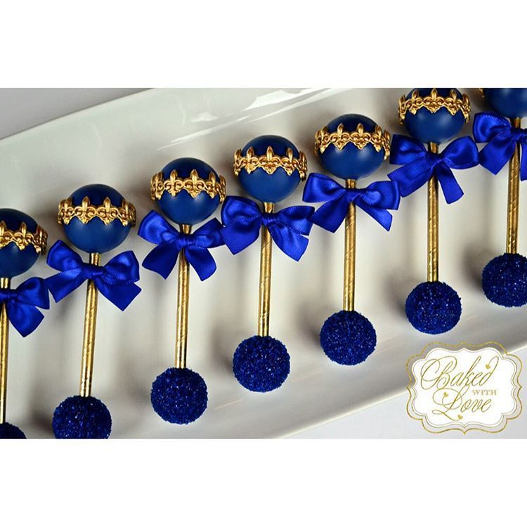 Baby Rattle Cake Pops For A Royal Prince's Baby Shower