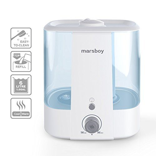 Ultrasonic Cool And Warm Mist Humidifiers Marsboy 6l 1 6 Gal Anti Mold Aroma Diffuser Air Diffuser Topside Water Refill Super Quiet Operation Ambient Nigh With Images Humidifier Best Whole House Humidifier