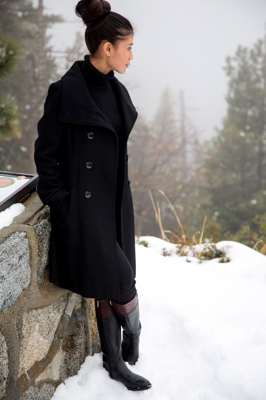 An All Black Winter Outfit   Black coat outfit, Winter outfits and ...