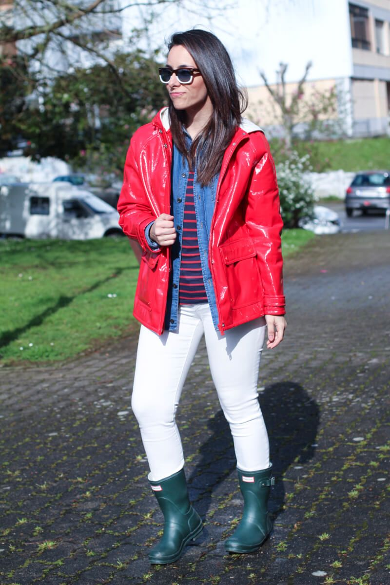 How to rain wear boots fashionable