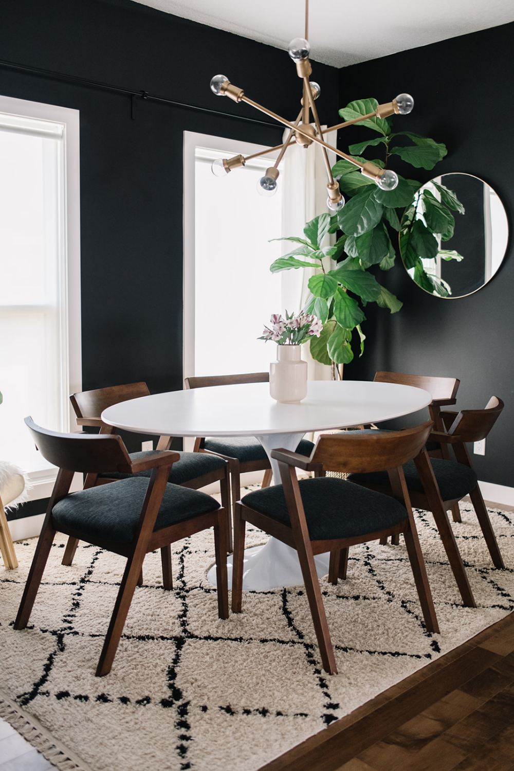 Black, White + Walnut: Our Dining Room Refresh with the Article Zola Dining Chair