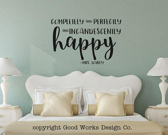 completely and perfectly and incandescently happy wall decal - pride