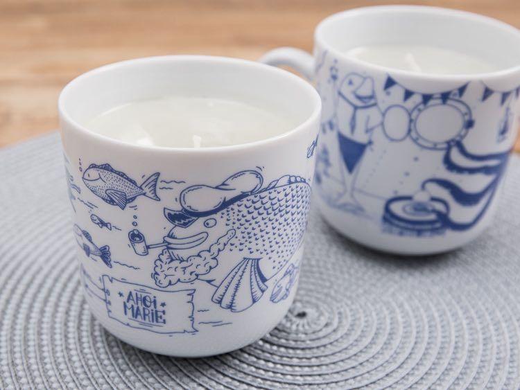 DIY-Anleitung: Schicke Tasse zur Kerze umwandeln via DaWanda.com