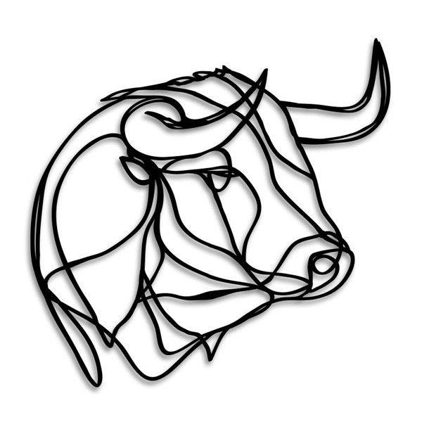 Bull Head Wooden Wall Art
