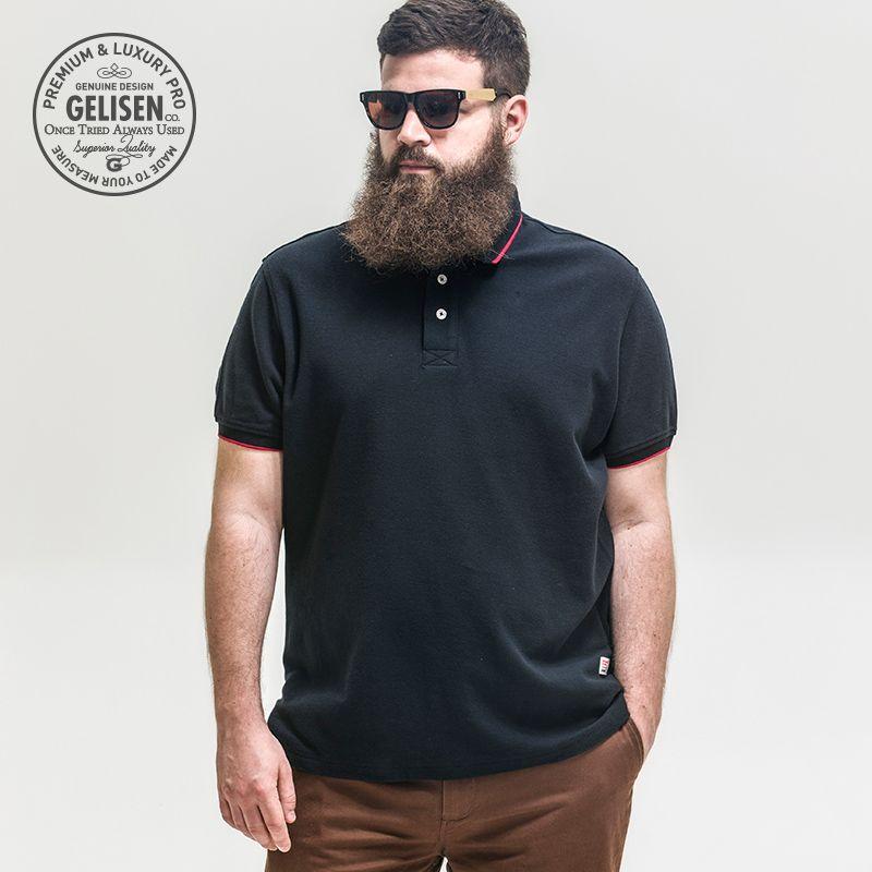 abadae1e9f7 GELISEN Brand Men s Polo Shirt 2015 New Chubby Men Fashion