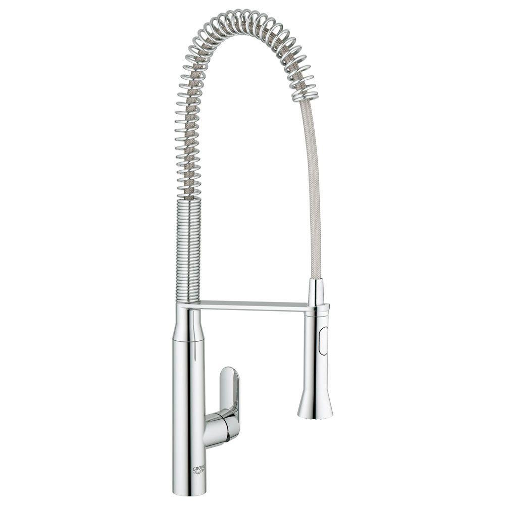 Chrome Pull Out Spiral Kitchen Faucet