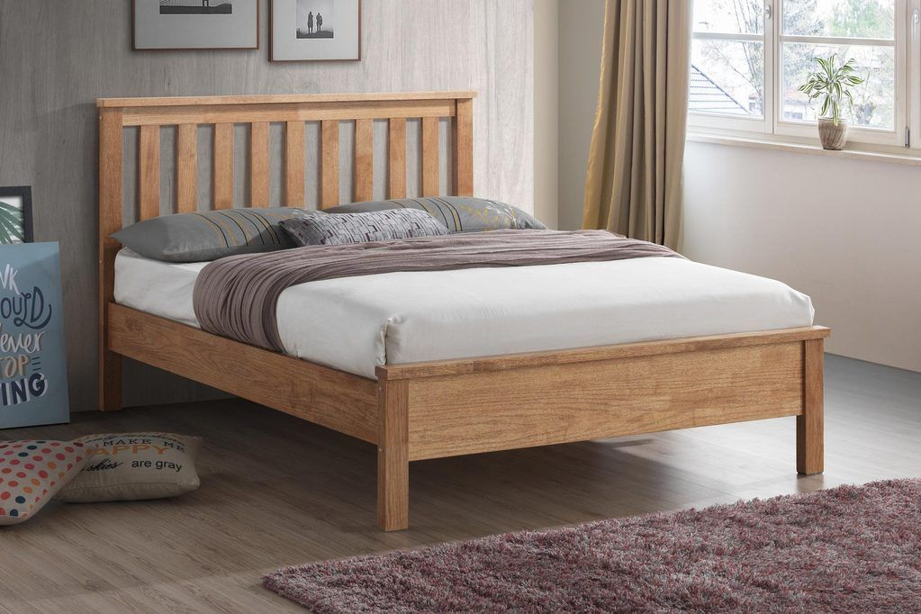 Worthing Oak Wooden Bed Frame 5ft King Size