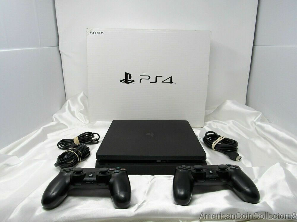 Sony Playstation 4 Ps4 Slim 1tb Black Console System Cuh 2115b 2 Controller 4236 Ps4 Gaming Video Console System Sony Playstation Playstation