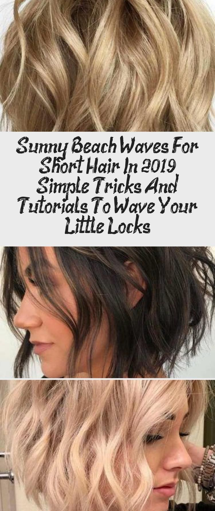 Blonde Beach Waves For Short Hair Beachwaves Shorthair Hairstyles Bobhaircut Blondehair Ev In 2020 Beach Waves For Short Hair Short Hair Styles Short Hair Waves