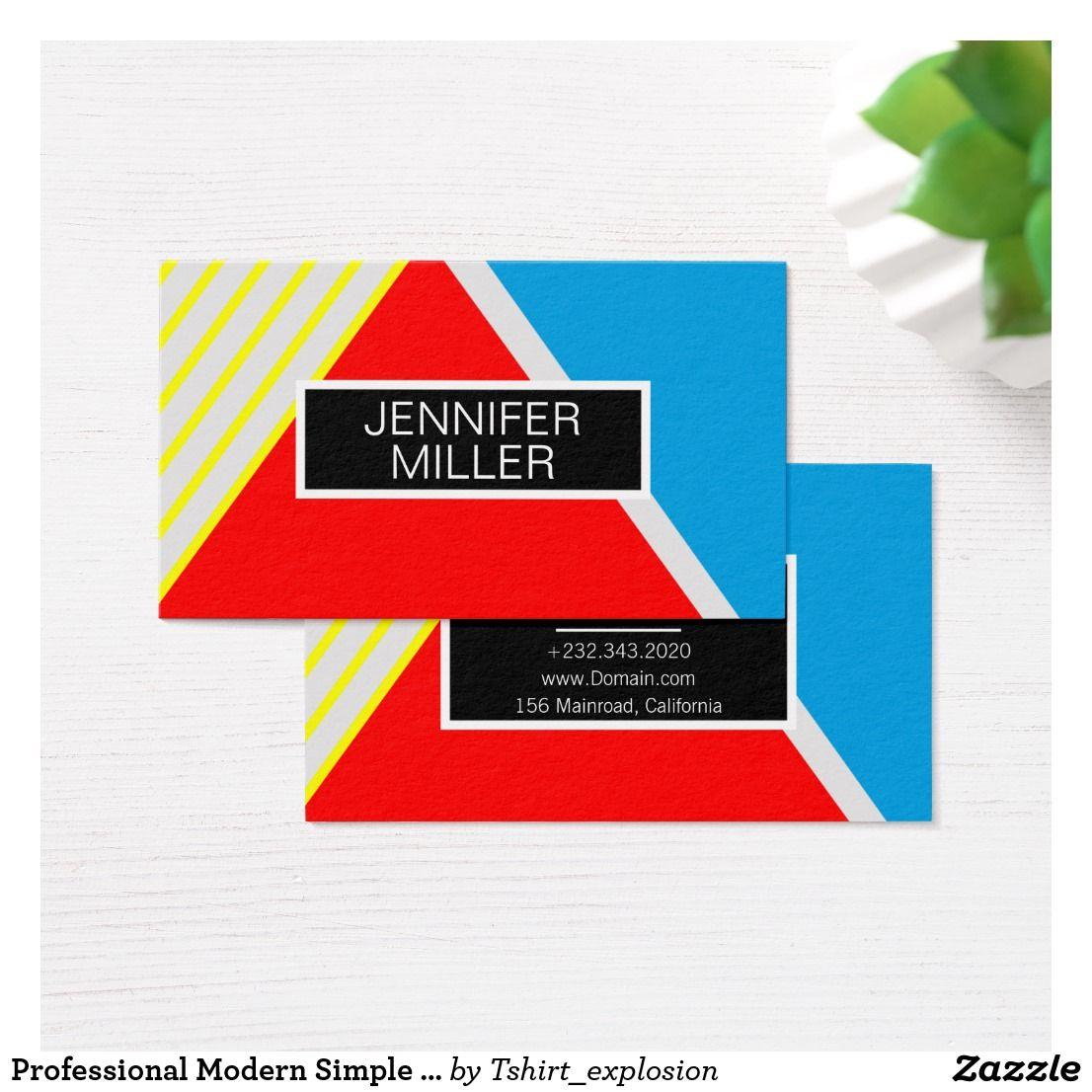 Professional Modern Simple Popular Stylish Business Card