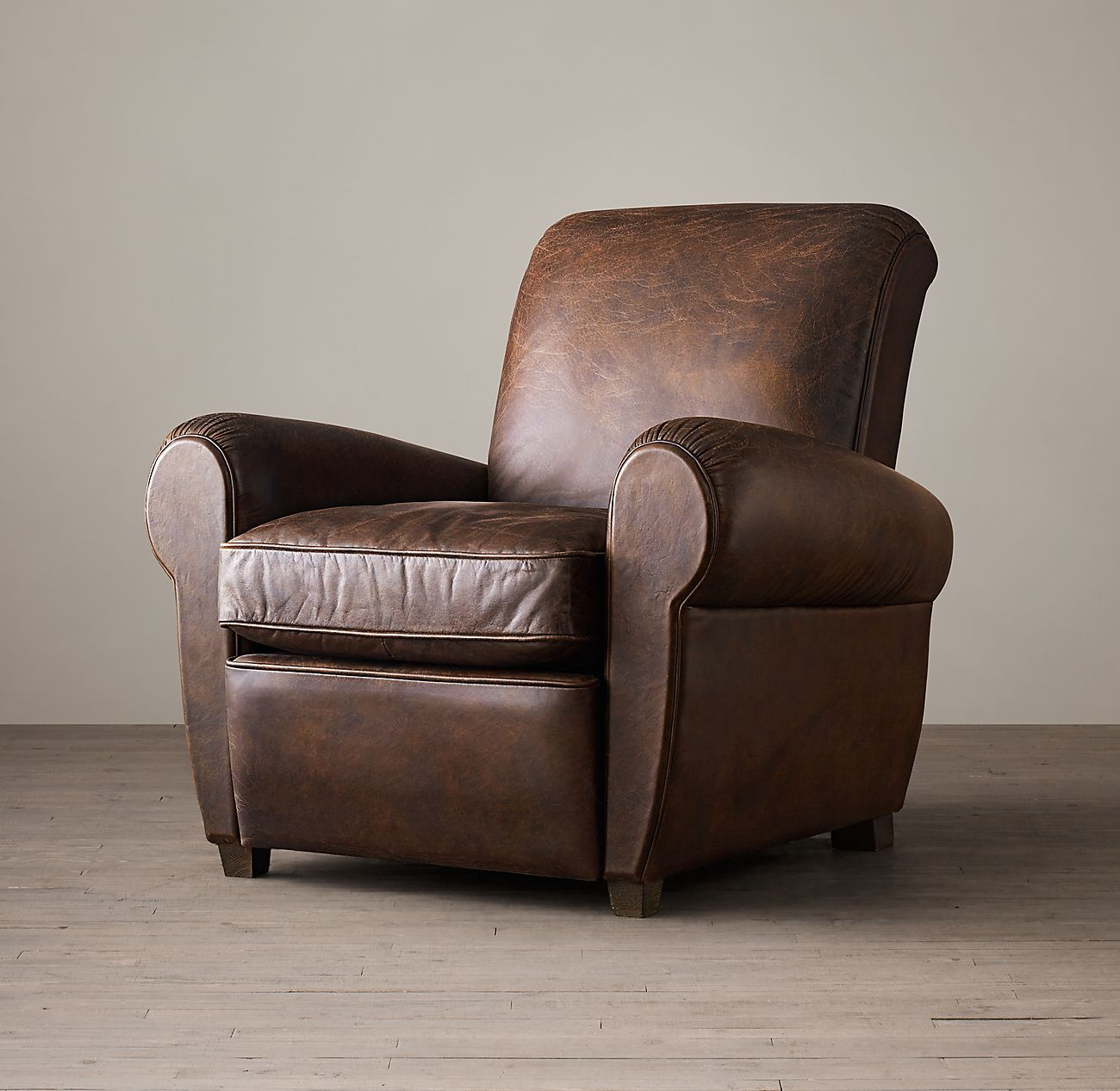 1920s Parisian Leather Club Recliner (With images