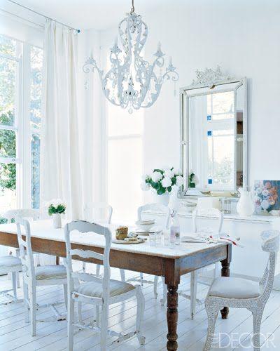 DESDE MY VENTANA: Comedores en Blanco / White Dinning   comedor ...