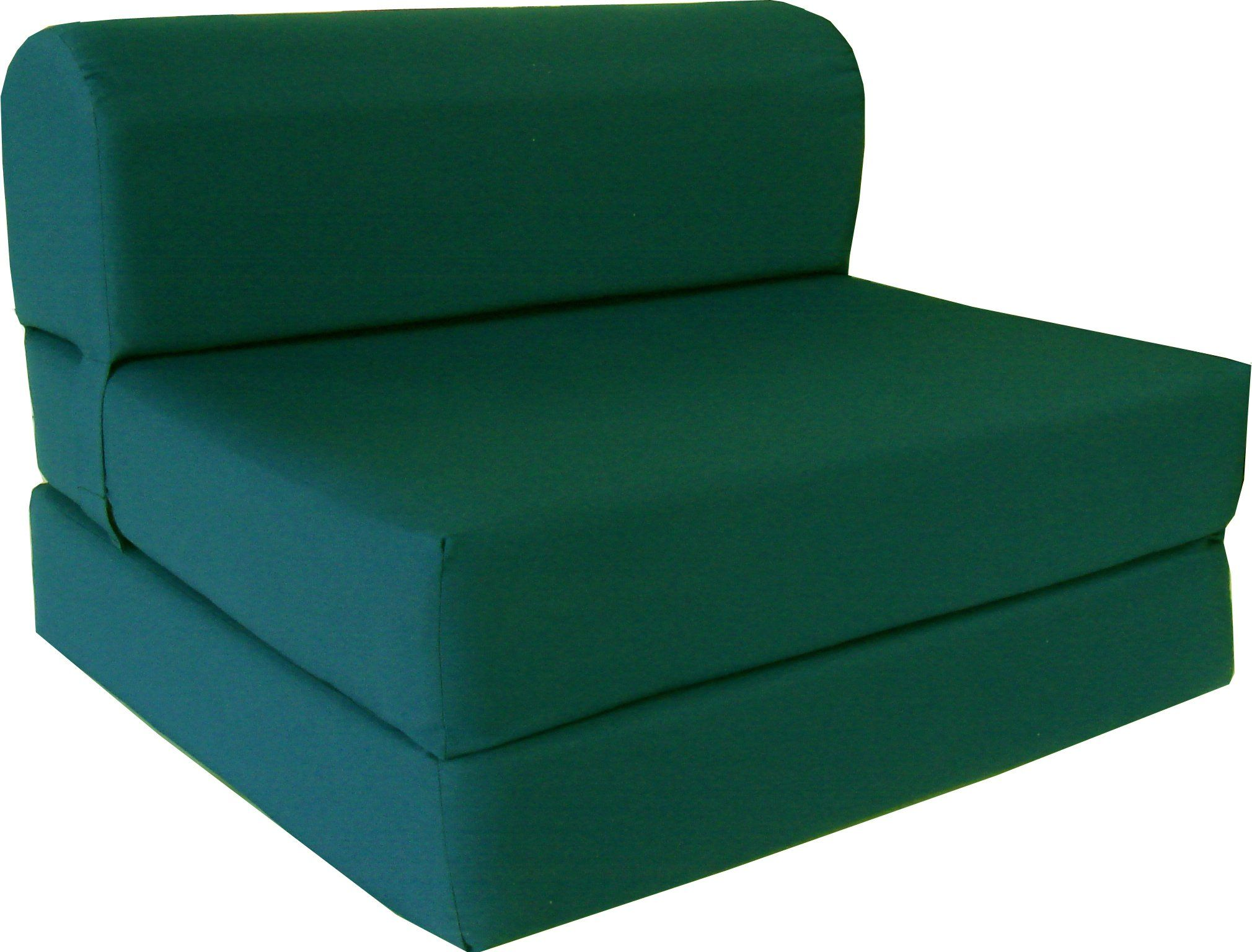 6 Thick X 36 Wide X 70 Long Twin Size Hunter Green Sleeper