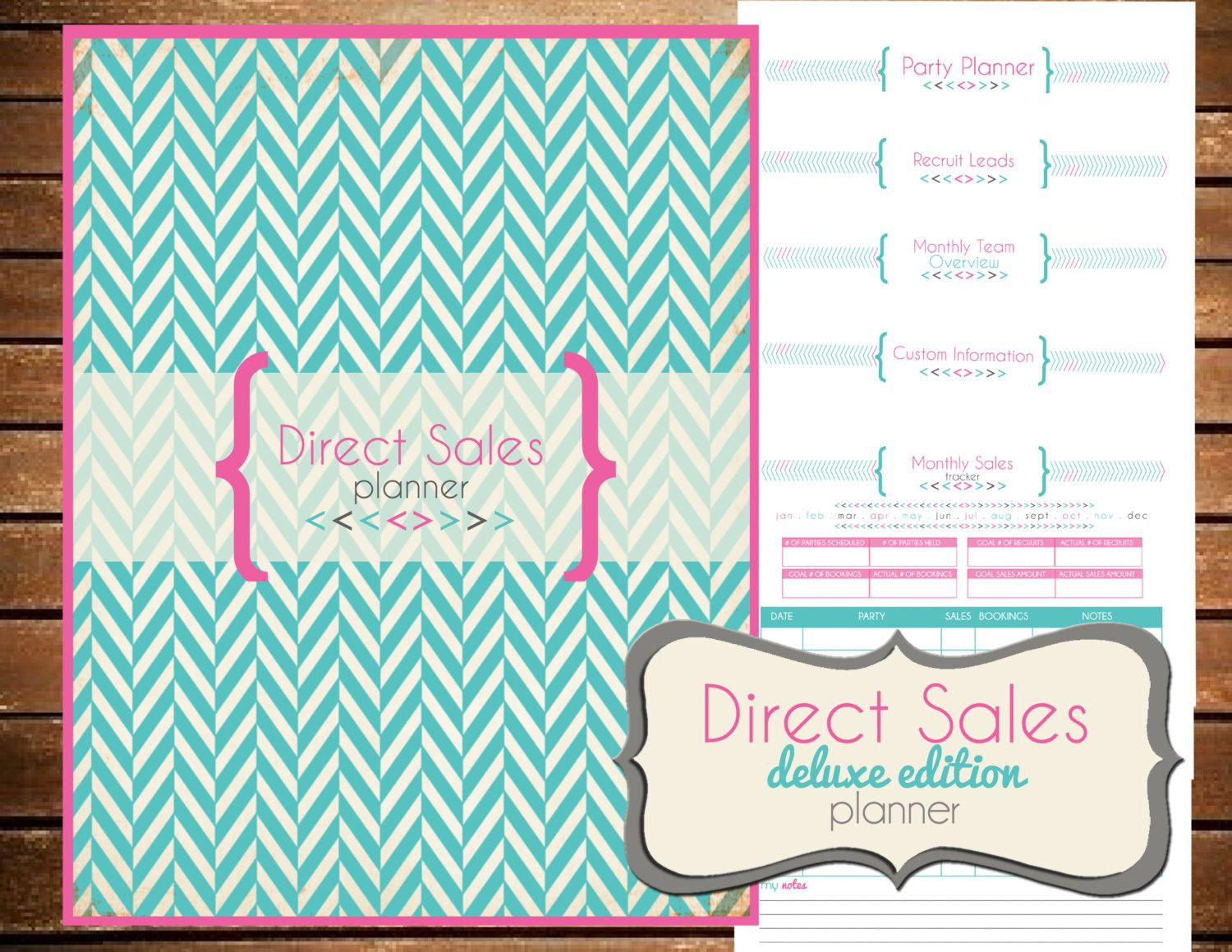 Direct Sales Planner Home Business Planner Blank Calendar