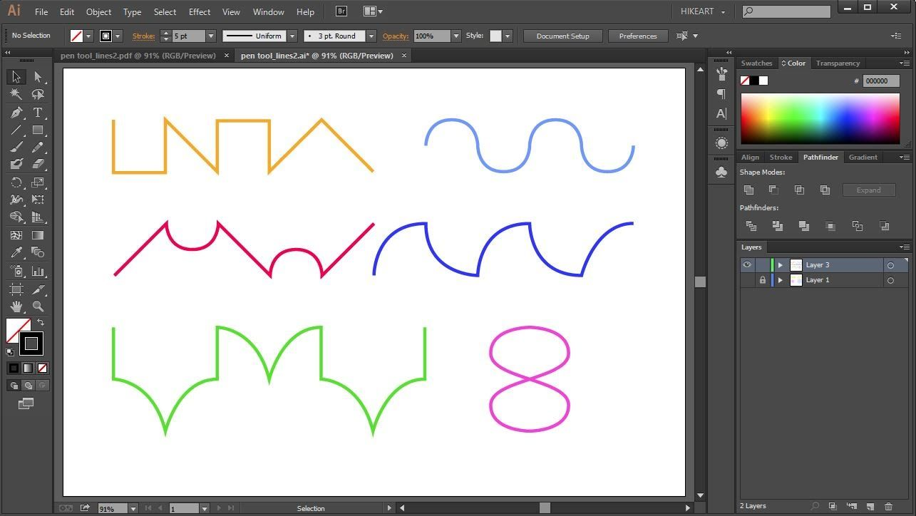 How to Draw Lines Using the Pen Tool in Adobe Illustrator