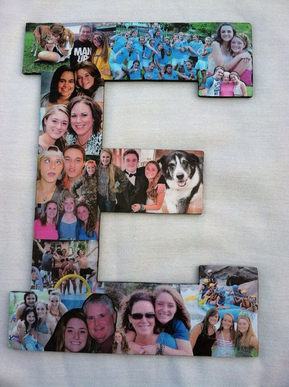 professional color photo collage alphabet collage engagement photos college dorm room decor birthday photos high school photos