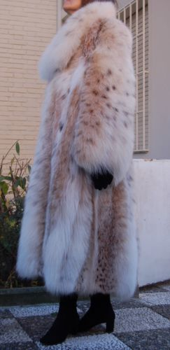 GALANOS NATURAL RUSSIAN LYNX FUR COAT IMMACOLATE CONDITION