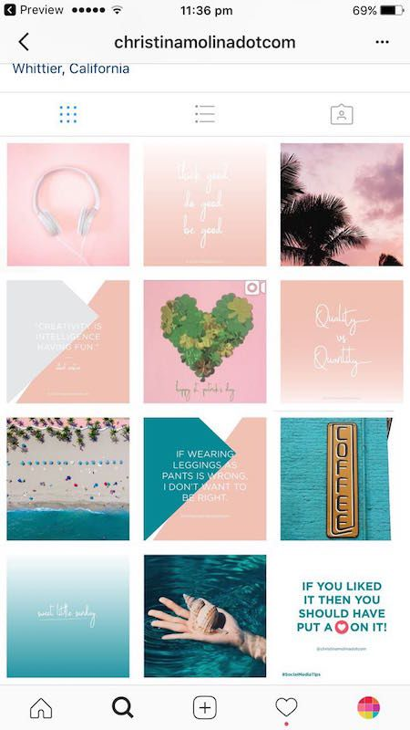 9 Types Of Instagram Grid Layouts Planner Tips Instagram Grid Layout Instagram Theme Layout Instagram Grid