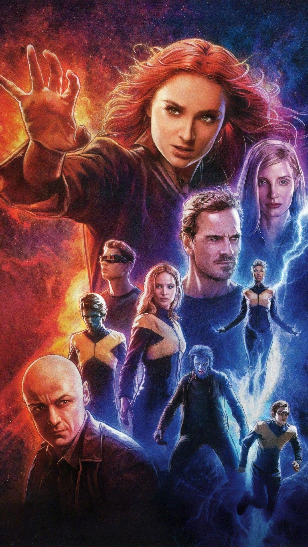 Dark Phoenix 2019 Wallpaper For Iphone Dark Phoenix X Men