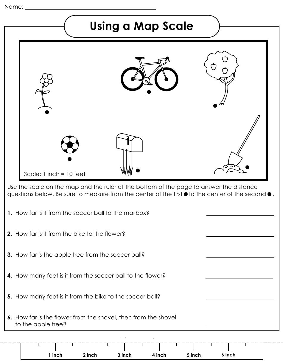 Map With Scale Worksheets Map Worksheets Teaching Maps Social