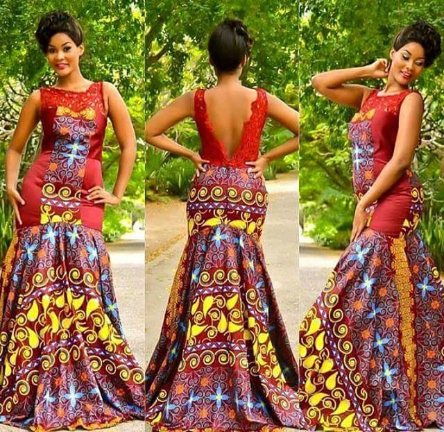 25 Beautiful African Print Maxi Dresses And Gowns For A Wedding