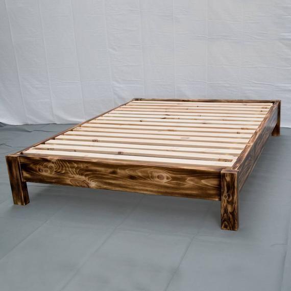 Best Torched Farmhouse Platform Bed Traditional Platform 400 x 300