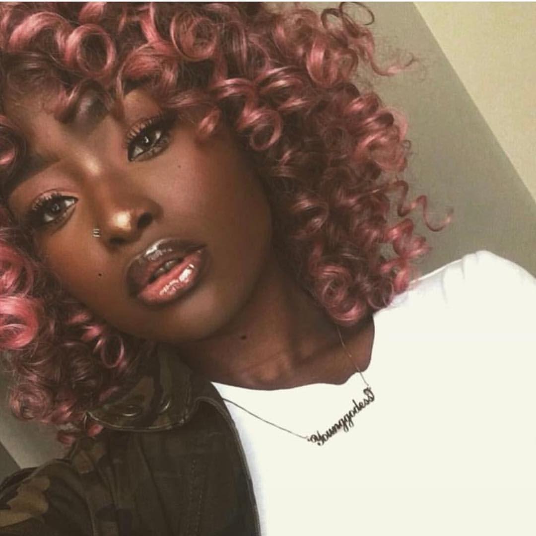 Melanin Hair Color For Dark Skin Hair Color For Dark Skin Tone Hair Color Pink