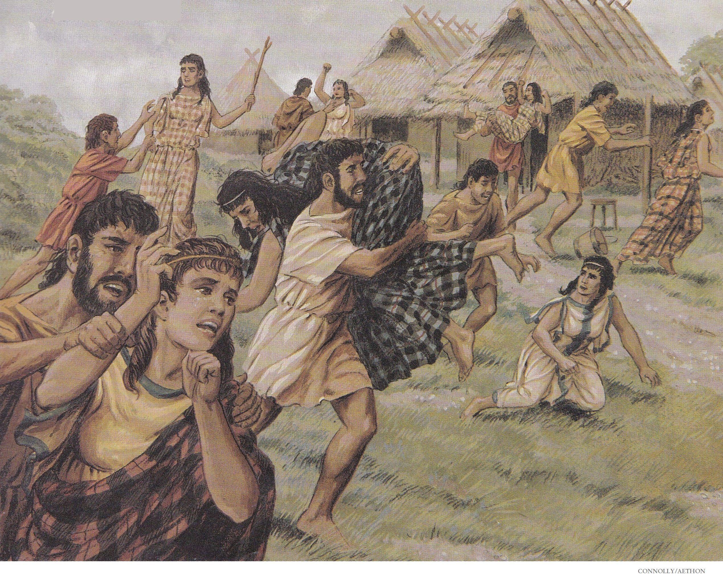 Liburnas romanas derrotando a una flotilla de godos o o la