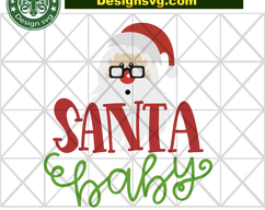 Santa baby, santa svg, santa gift, santa head, baby svg, santa baby svg, christmas decor, christmas gift, funny christmas day, merry christm #1weihnachtstaglustig BIBISHOP on Zibbet: #1weihnachtstaglustig