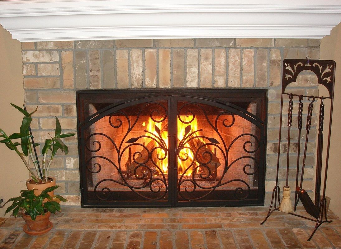 arched inside rectangle fireplace doors san diego carlsbad orange rh pinterest com Fireplace Screens Glass Fireplace Doors