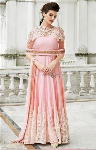 Indian Gowns Designs Of Different Styles V-Neck Standing Collar ...