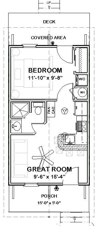 Complete House Plans 390 S F Cute Cottage 1 Bed 1 Ba Cottage Floor Plans Building Plans House Tiny House Floor Plans