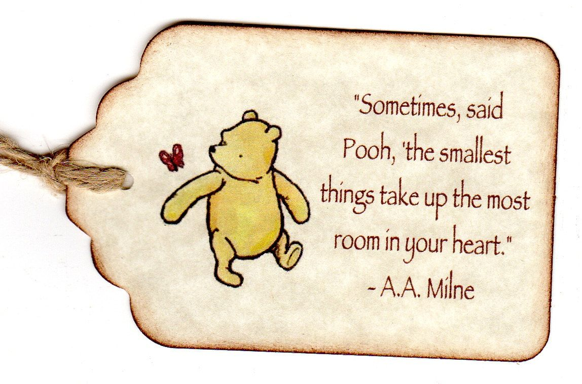 Winnie The Pooh Baby Shower Party Favor Tags Baby Christening Etsy Baby Shower Gift Favors Baby Shower Favor Tags Baby Shower Flowers